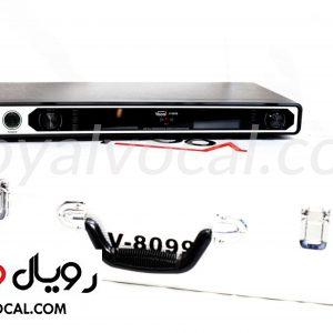 میکروفون بیسیم دو کانال یقه ای - هدست مدل V-8099 klt