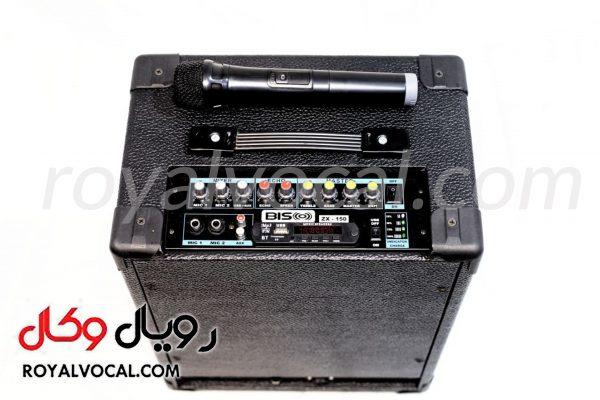 اکو آمپلی فایر bisco مدل zx-150 میکروفون بی سیم دار