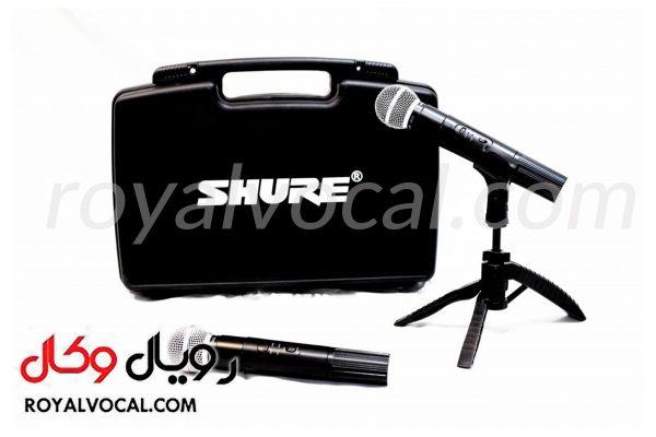 میکروفون بیسیم دو کانال SHURE مدل sm58 (دو دستی)