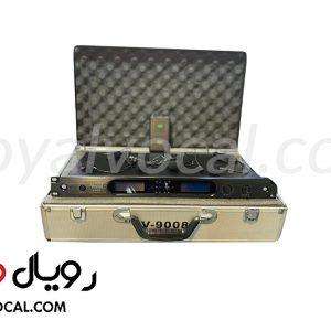 میکروفون بیسیم دو کانال یقه ای و هدست VOCAL مدل V-9008KLT
